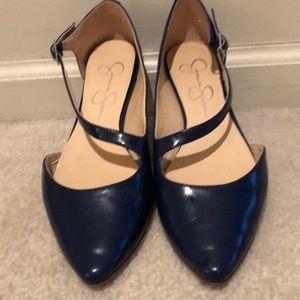 Jessica Simpson Flats in Navy Blue Sz 8